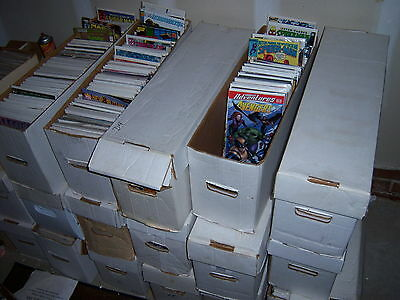 1 box Lot of 50 comics from 1970s duplication free shipping bagged & boarded