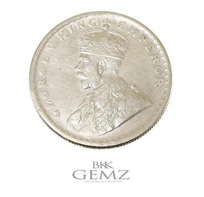 George V King Emperor ~ One Rupee 1916's Silver Antique Indian Coin Rare!!