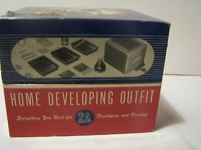 Vintage Ansco Home Developing Outfit 2A Original Box