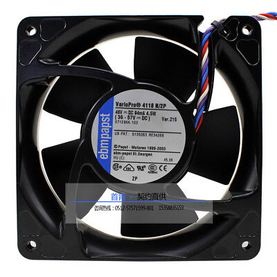 For Ebmpapst 4118N/2P 12038 48V 4.5W Full Metal High Temperature DC Fan