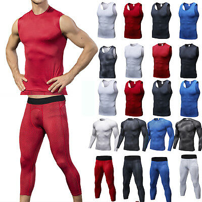 Mens Skins Compression Pants Top Exercise Base Layer Tights Sports Athletic Wear