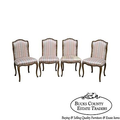 French Louis XV Style Vintage Set of Custom Quality Dining Chairs