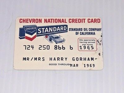 Vintage Chevron Standard Oil Company Gas Credit Charge Card G26