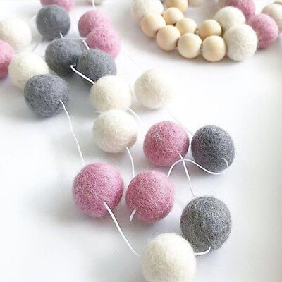 Multi Colors Felt Ball Garland Bunting Banner Party Birthday Decor Pom Pom NEW