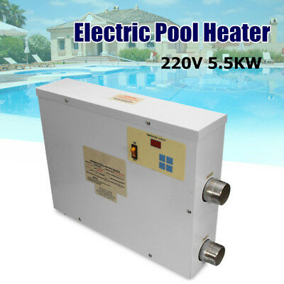 220V 5.5KW Digital Electric Water Heater Thermostat Swimming Pool & SPA Hot Tub