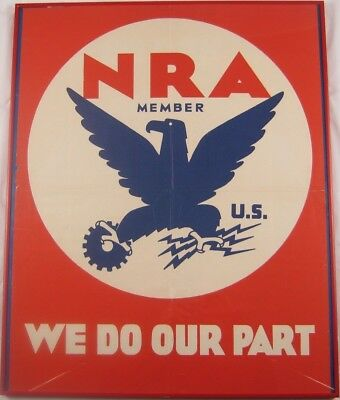 Antique 1933 NRA (National Recovery Administration) Poster Set
