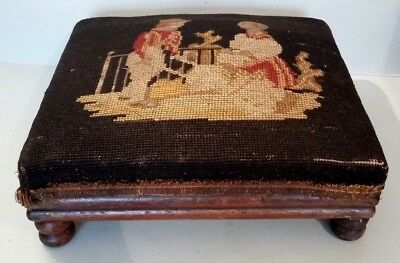 Superb footpegs tapestry to the small points Napoleon III black background