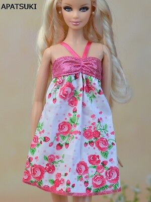 "Pink Fashion Doll Clothes Pretty A-line Casual Dress For 11.5"" Doll Clothes Toy"