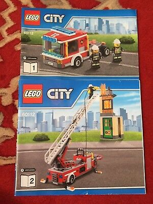 Lego City 4430 Fire Transporter Instruction Manual Book Only