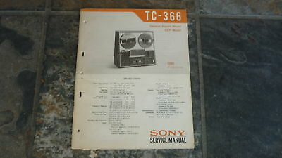 sony tc 366 service manual