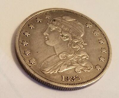 1835 United States Capped Bust  Quarter Excellent Condition