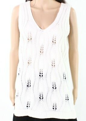 Urban Day NEW Ivory Women Size Large L Cable Knit Sleeveless Sweater Top $42 003