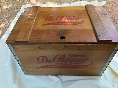 Dr Pepper King of Beverages Wooden Box/Crate