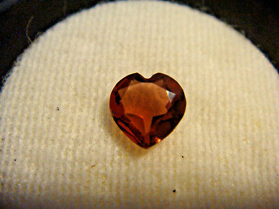 Garnet Gemstone Heart Cut 6 mm x 6 mm 1 carat faceted natural Gem