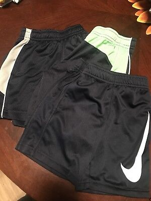 Size 4t dry fit Nike shorts lot of 3
