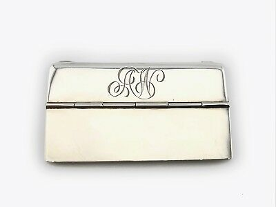 An Antique English Or European Sterling Silver Personal Card Holder