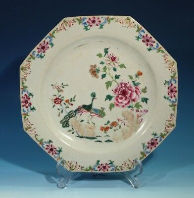 18th 19th Century Antique Chinese Famille Rose Porcelain Plate.