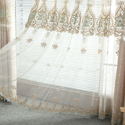 Finished Jacquard Curtain Hollow Shade Cloth European Sheer Tulle Custom 1 Piece