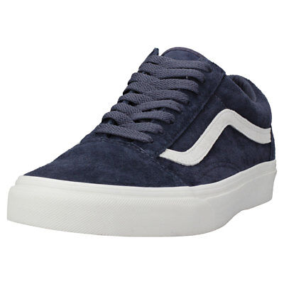 d7e480891a Vans Old Skool Unisex in Navy White Suede Trainers