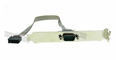 Motherboard 9 Pin COM Header to DB9 RS-232 Serial Port Cable with Blackplate KAY