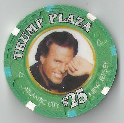 $25 Atlantic City Trump Plaza Casino Chip Donald Music Julio Iglesias March 2003