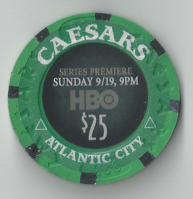 $25 Atlantic City Caesars Casino Chip Boardwalk Empire Hbo Tv Show Sunday Nights