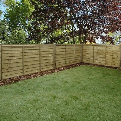 Garden Wooden Fence Panels - Waney Edge, 3x6, 4x6, 5x6, 6x6, Pressure Treated