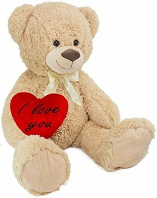 xxl teddy b r 100 cm mit herzkissen i love you 36 x 30 cm. Black Bedroom Furniture Sets. Home Design Ideas