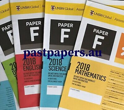 ICAS Year 8 (F) Past Papers lot - Maths English Science Digital Writing