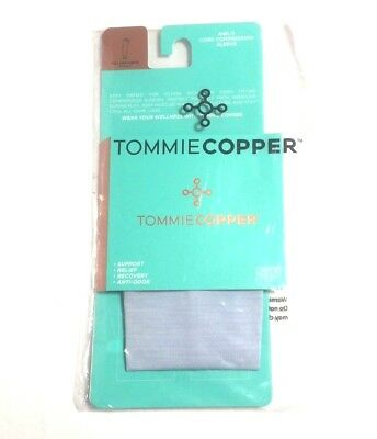 Tommie Copper Blue Heather Girl's Core Compression Full Arm Sleeve X-Small, Nip