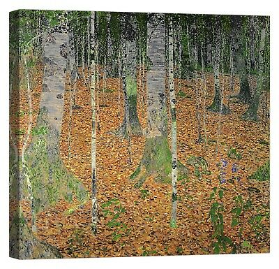 QUADRO GUSTAV KLIMT The Birch Wood Stampa su tela Canvas effetto dipinto