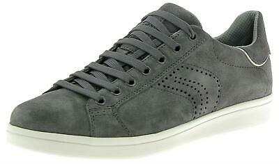 GEOX U WARRENS A scarpe uomo Canvas+Pelle scamosc.Navy sneakers prim ... 2dbf6e44aed