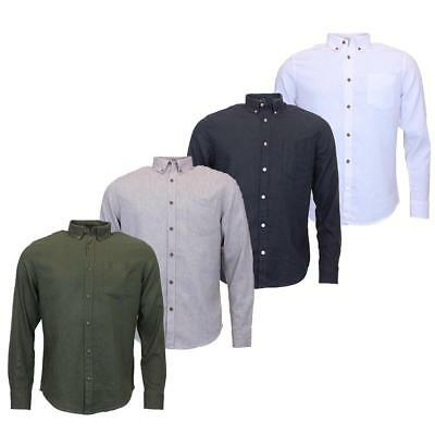 Mens Button Down Casual Linen Shirts |  RRP: £32.00