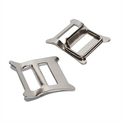 2x Nickel Plated Roko Buckles for Leather Jackets / Belts / Straps / Stirrups