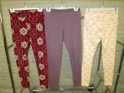 LuLaRoe Lot of 5 Girl's Leggings One Size - Pre-Owned