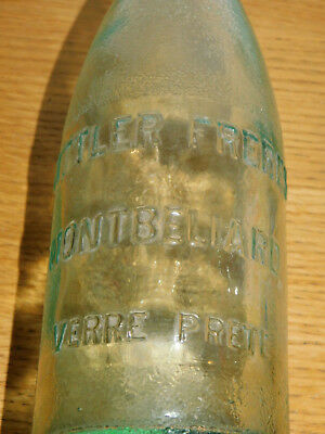 ancienne BOUTEILLE old bottle SITTLER FRERES MONTBELIARD water vintage FLASCHE
