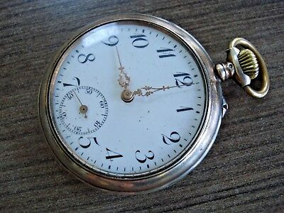 c1900 Solid Silver 0.800 GALONNE French Pocket Watch