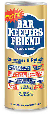 Bar Keepers Friend Cleaner 21 Ounce Cleanser and Polish Multipurpose Shine - NEW