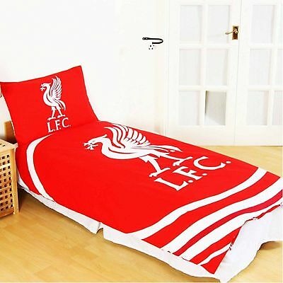 Official Liverpool FC Gift 'Pulse' Single Duvet Cover and Pillowcase Set