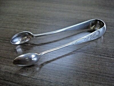 1882 Solid Silver Sugar Tongs by Stokes & Ireland 22g