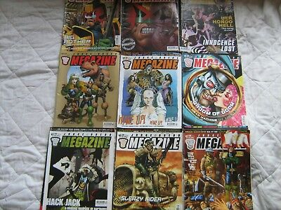 Bundle of judge dread 2000AD monthly megazines 9 issues