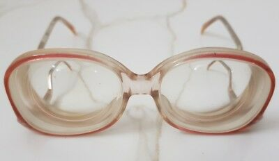 Vintage drop temple strong womens glasses eyeglasses thick lenses high myopic