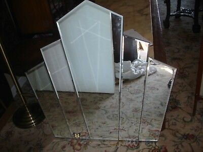 large art deco wall mirror excellent condition retro perfect condition