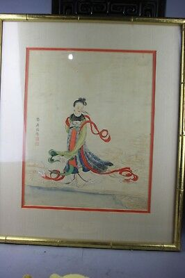 GongDingMing Signed Chinese Gouache Painting on Silk