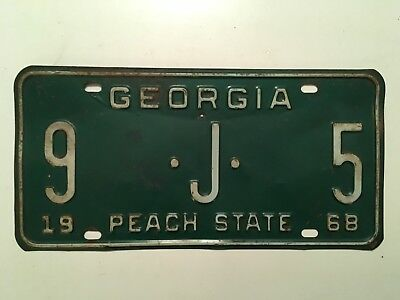 1968 Georgia License Plate YOM Floyd County Rome Chevy Dodge Ford LOW NUMBER!!