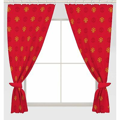 """Manchester United 54"""" Inches Drop Curtains Crest Design Gift Football"""
