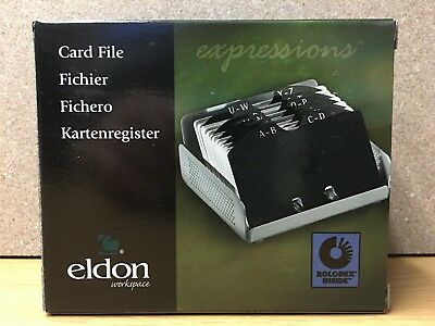 Eldon Card File Rolodex, Pewter #Q22494 - Brand New In Retail Box