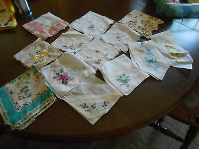 Vintage Lot of Handkerchiefs Bakers Dozen