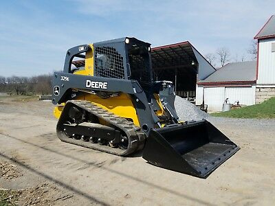 2014 John Deere 329E Compact Tracked Loader Diesel Engine Hydraulic High-Flow...