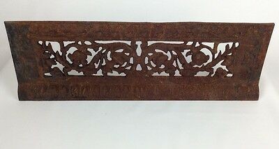 Ornate Antique Cast Iron Wall Floor Register Vent Grill Cover Grate Vines Flower